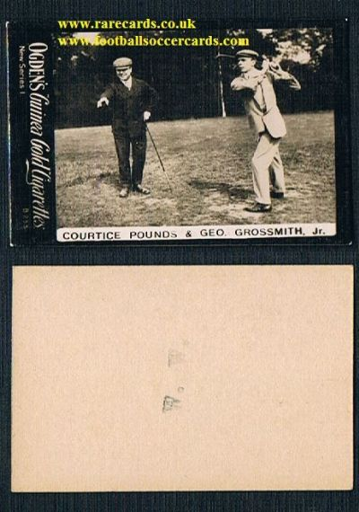 1901 Ogden's Guinea Gold NS1 golfers tobacco card Pounds & Grosssmith B233